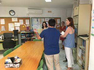 Visita de la Delegada de Educación del Ayuntamiento
