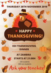 Cena de Thanksgiving